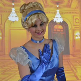 Cinderella posing for a picture