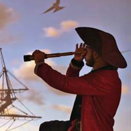 Pirate looking through a scope