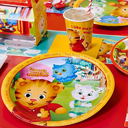 Daniel Tiger table setup
