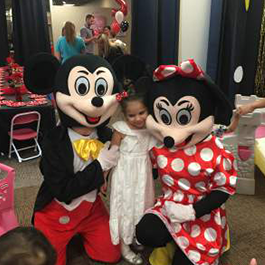 Mickey & Minnie with child