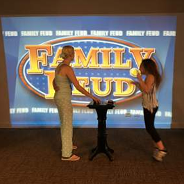 Playing Family Feud at the Pajama Party