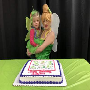 Tinkerbell with Cake