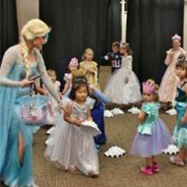 Kids at Frozen Party with Elsa