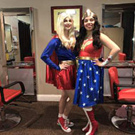 Super Girl and Wonder Woman